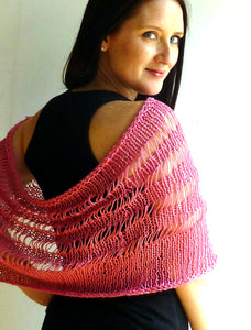 #433 Drop Stitch Capelet Cowl