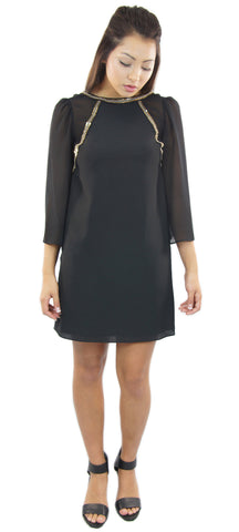 BCBGeneration | black cocktail dress with sequin detail - klōthe - 1