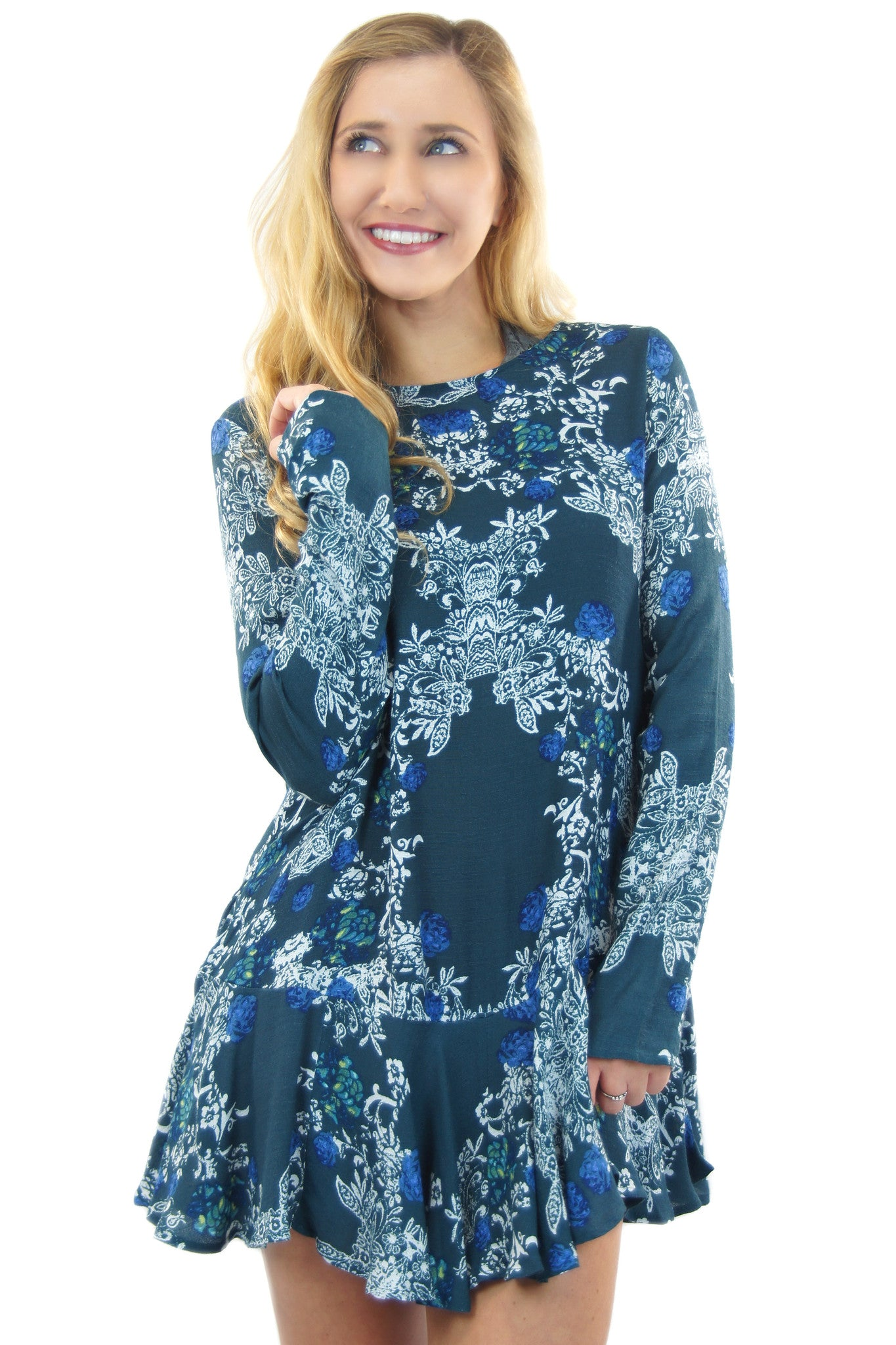 free people | smooth talker floral print tunic - klōthe - 2
