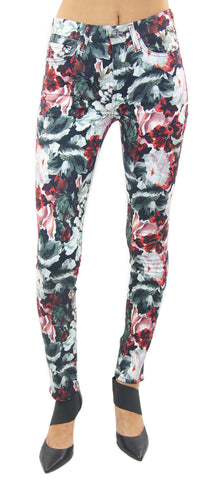 7 for all mankind | mid rise skinny contour waistband (gallery floral) - klōthe - 1