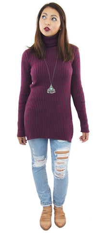 BCBGeneration | rib turtleneck tunic - klōthe - 1