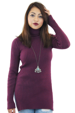 BCBGeneration | rib turtleneck tunic - klōthe - 2