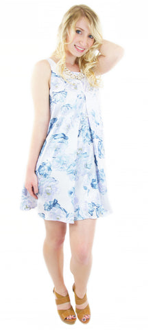 BCBGeneration | floral print pleated a-line dress - klōthe - 1