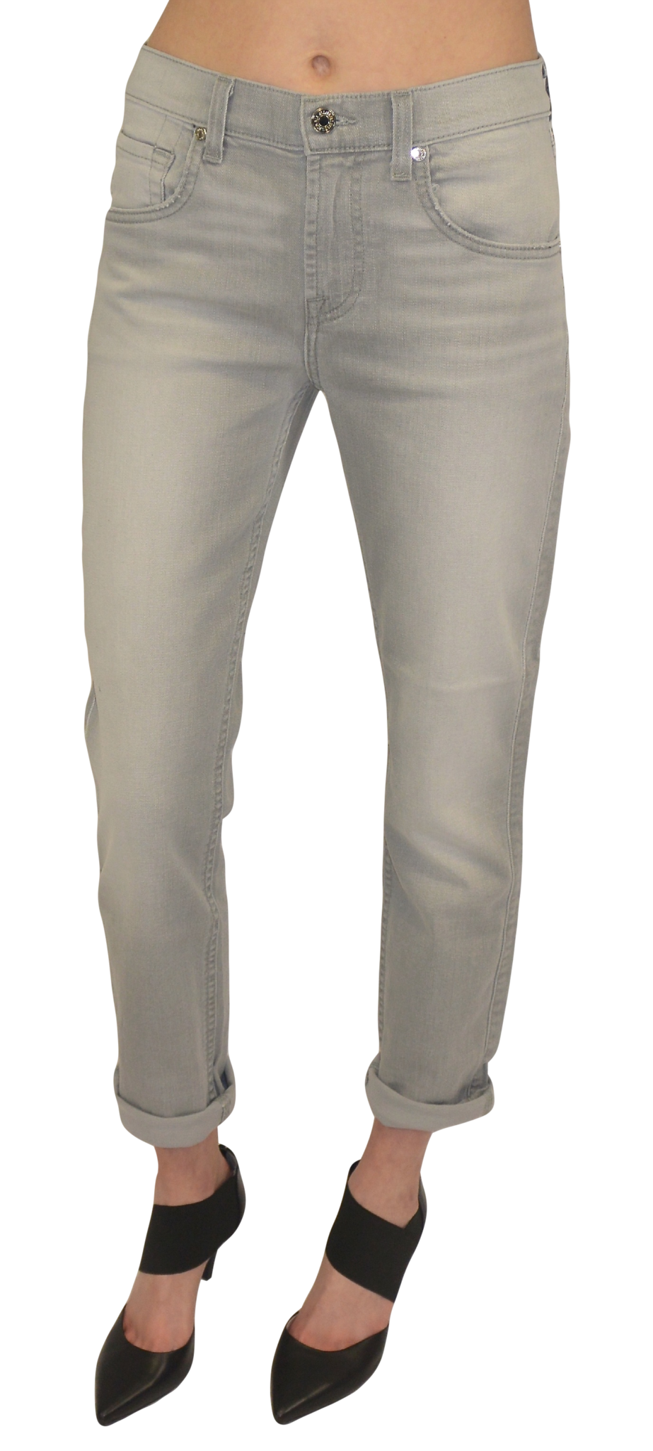 7 for all mankind | relaxed skinny (spring grey) - klōthe - 1