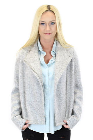 BCBGeneration | fleece asymmetrical zip jacket - klōthe - 2
