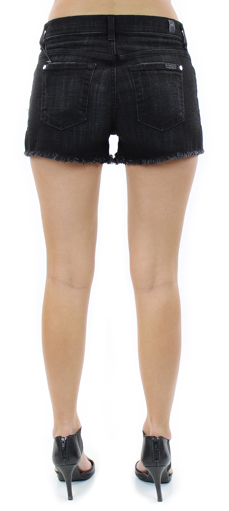 7 for all mankind | cut off shorts (black ocean)