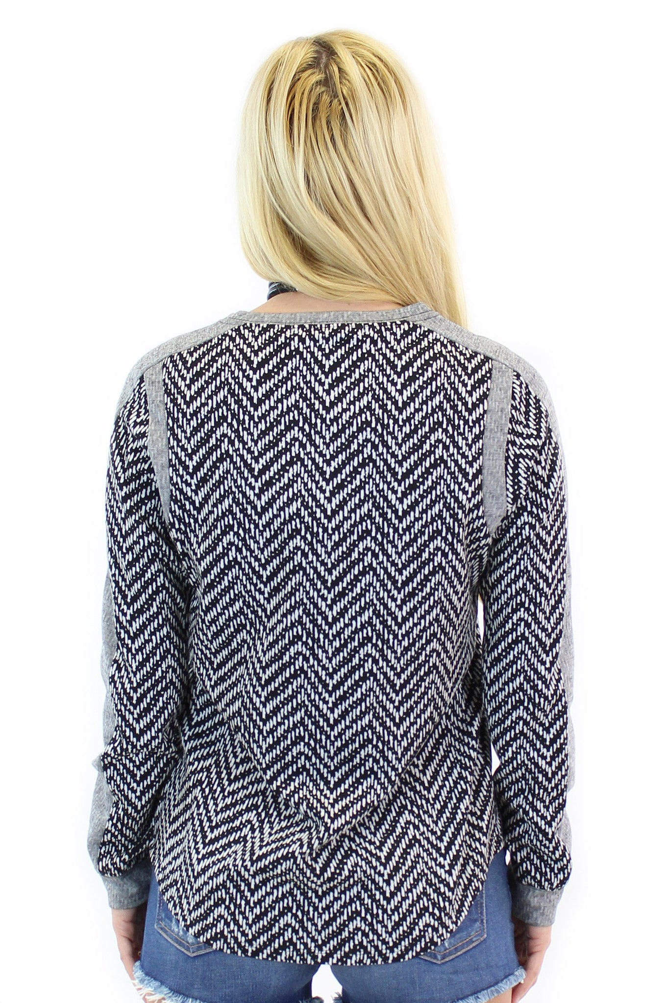 BCBGeneration | chevron sweatshirt