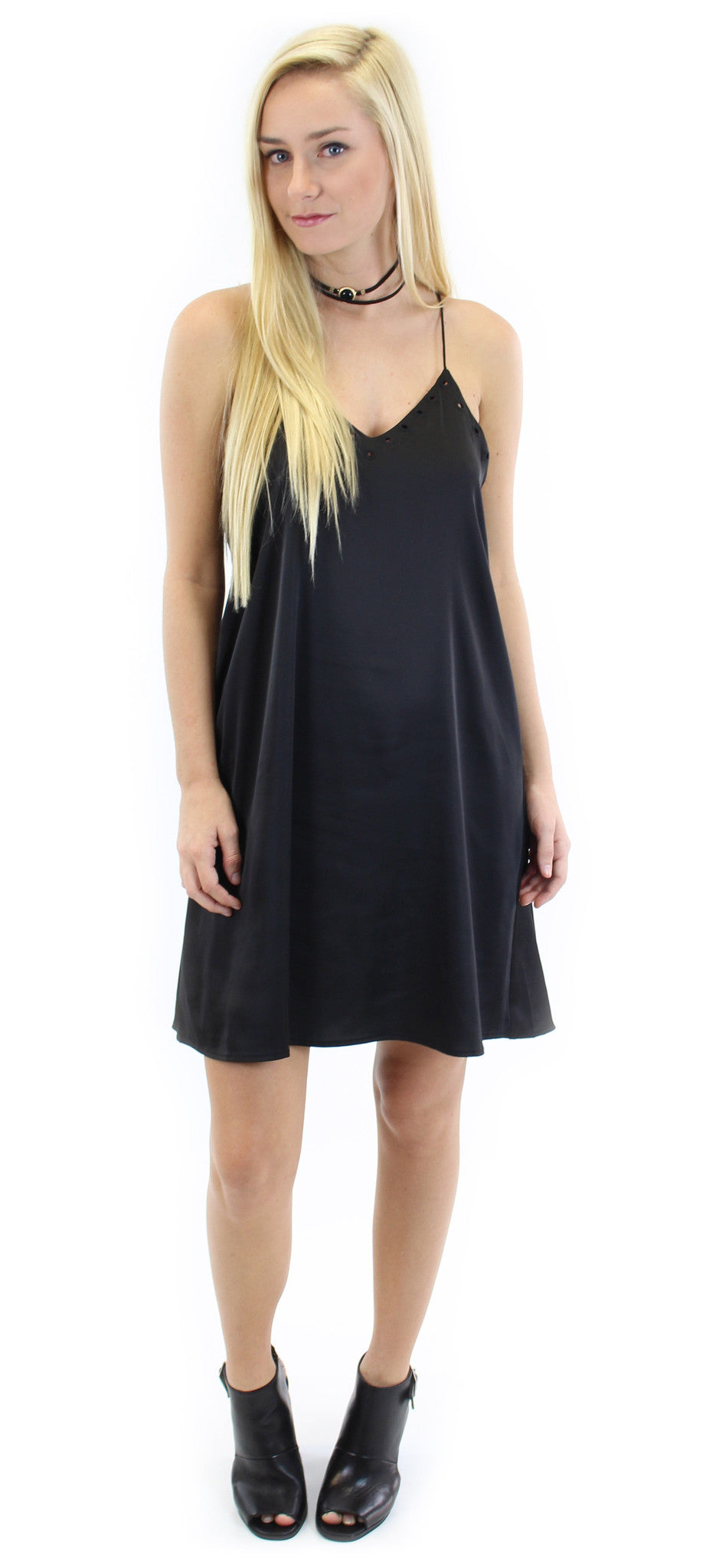 silky dress with cut-out detail - klōthe - 1