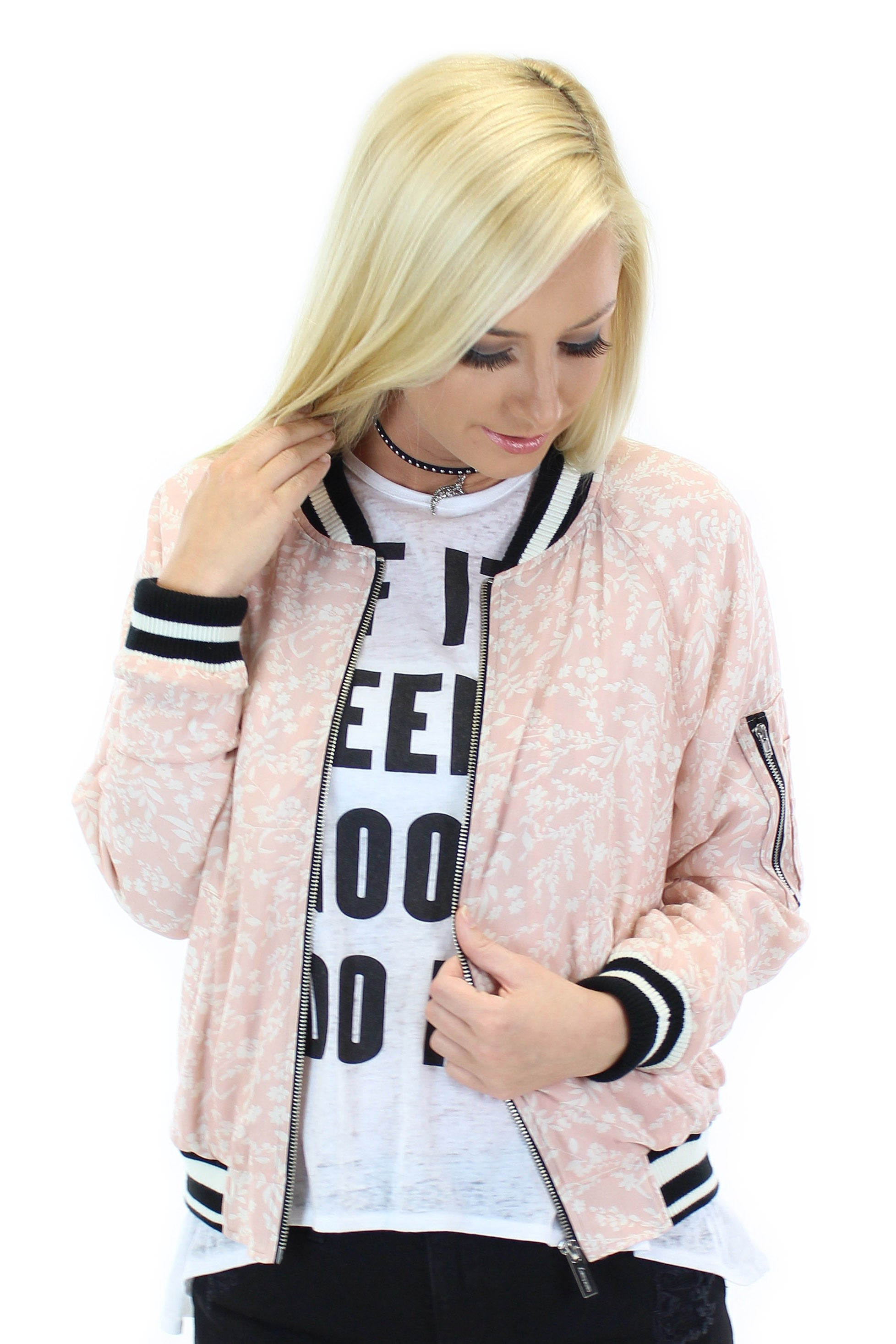 sanctuary | pink sprout bomber