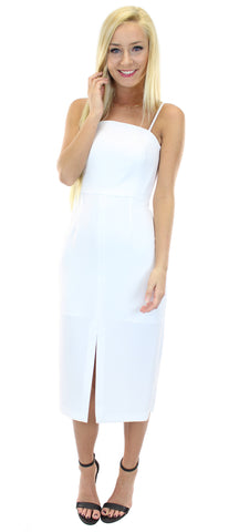 BCBGeneration | front slit structured dress - klōthe - 1