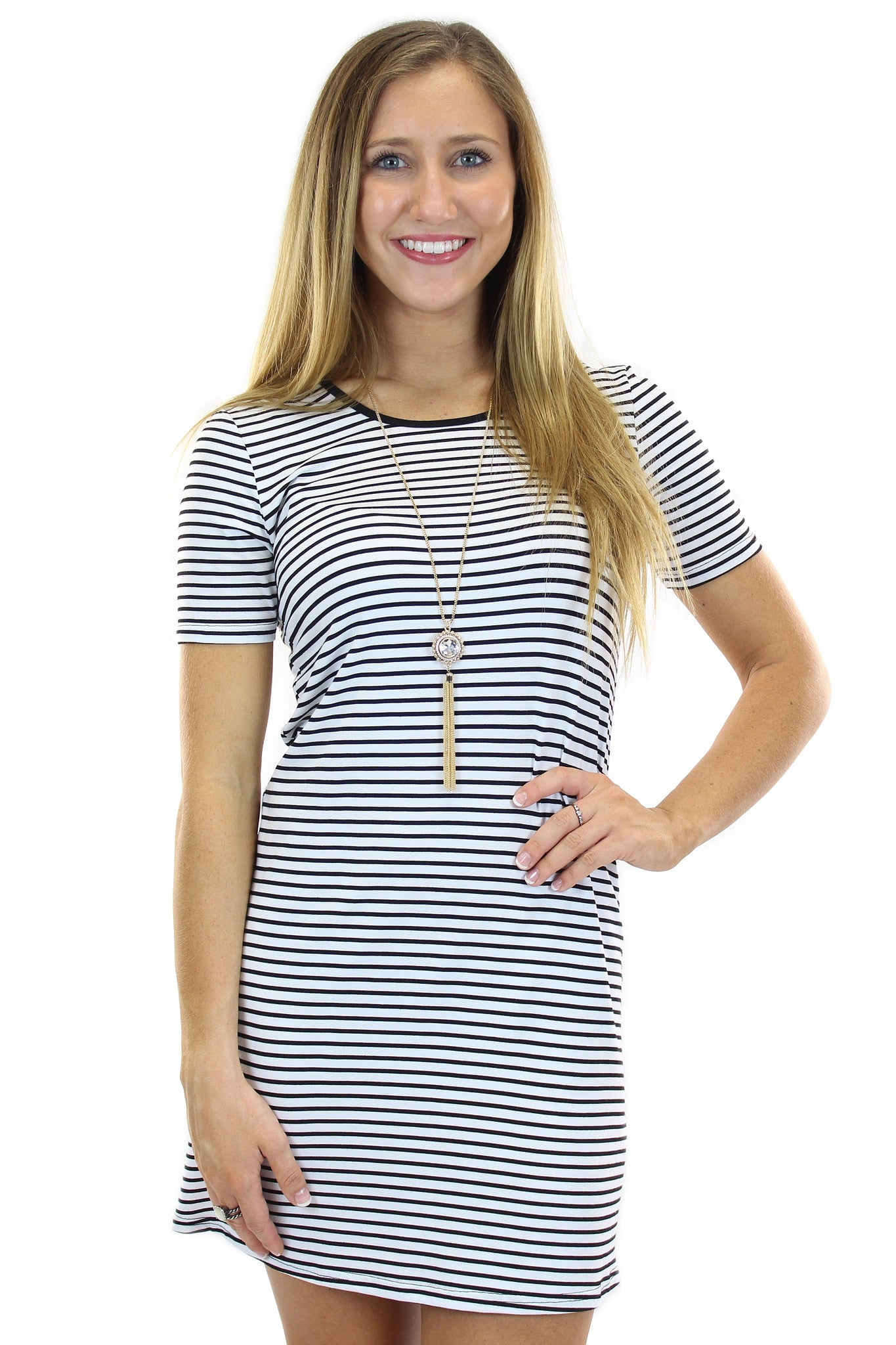 stripe shift dress - klōthe - 2