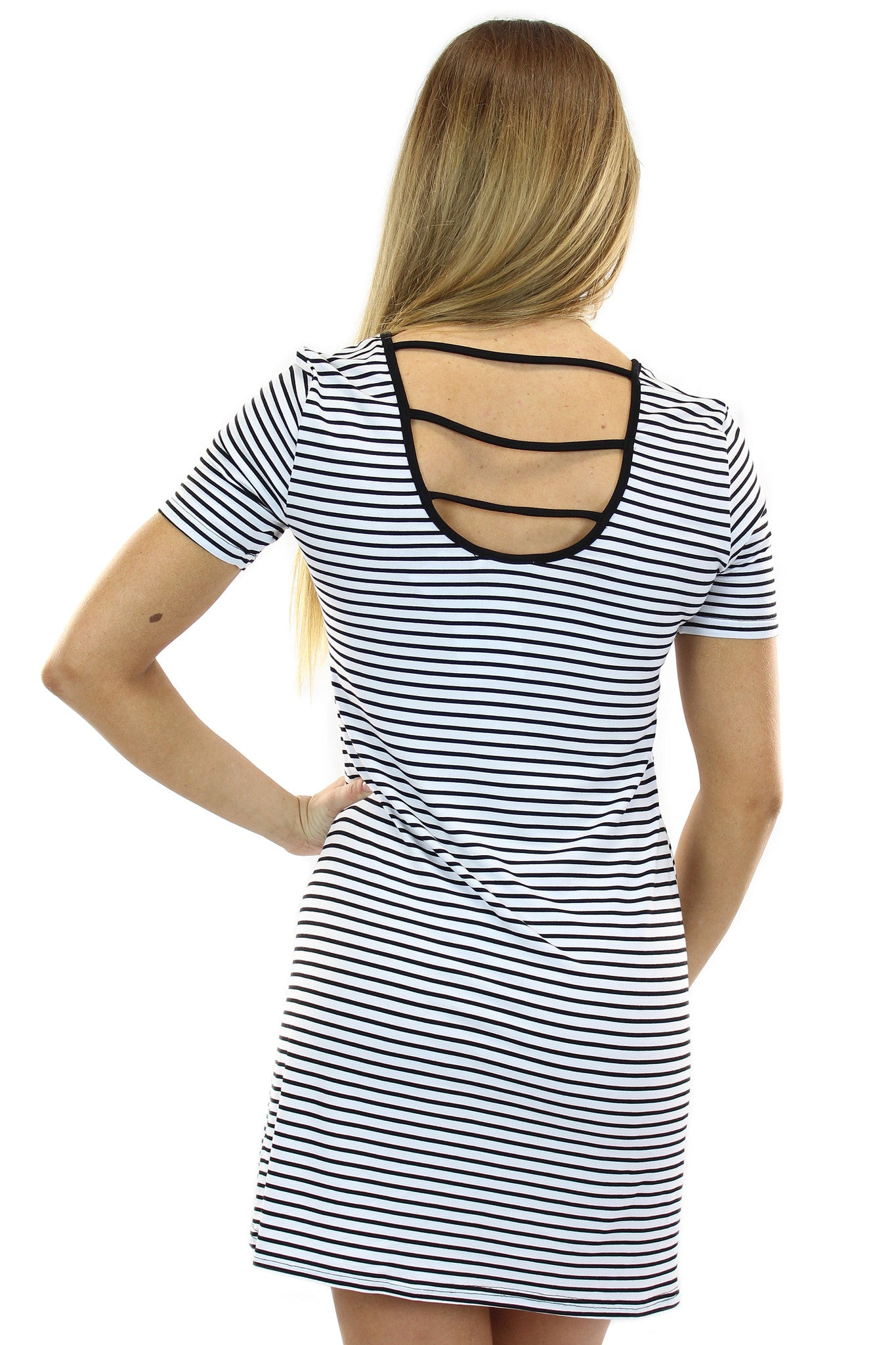 stripe shift dress - klōthe - 3