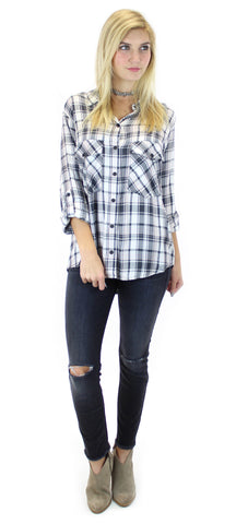 sanctuary | boyfriend shirt (maxwell plaid) - klōthe - 1
