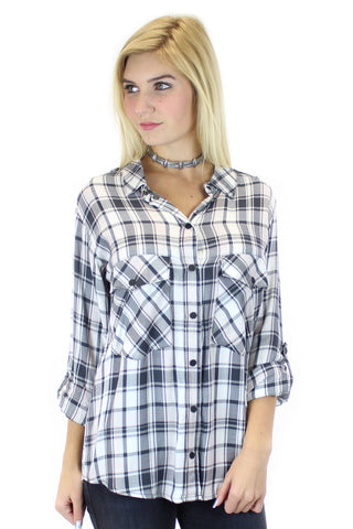 sanctuary | boyfriend shirt (maxwell plaid) - klōthe - 2