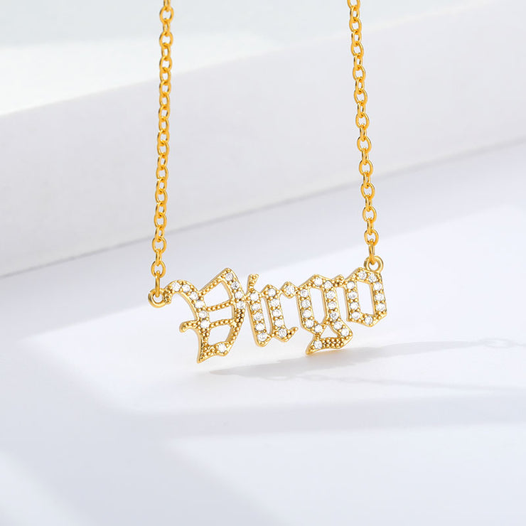 Virgo - Crystal Zodiac Necklace