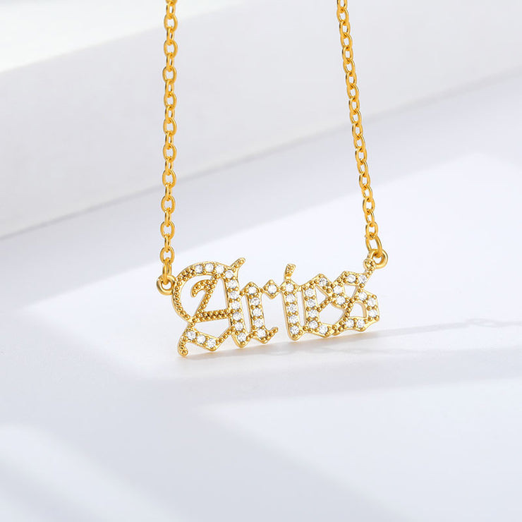 Aries - Crystal Zodiac Necklace