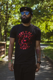 """Blame it on My Scorpio"" Men's Chrome Metallic T-Shirt - MyZodiac Clothing"