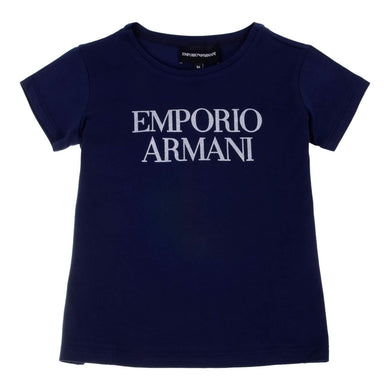 Girls Navy Logo T-Shirt