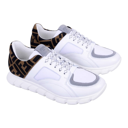White FF Logo Trainers