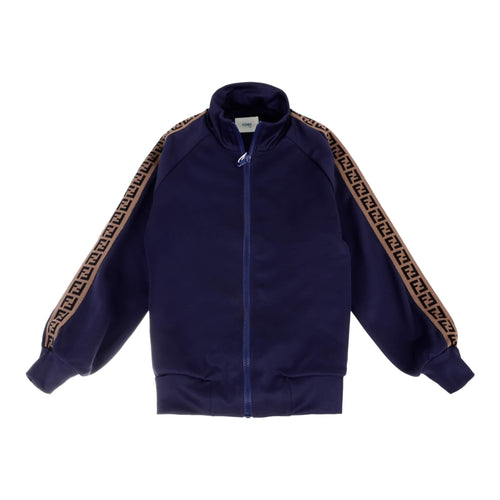 Fendi Boys Navy FF Zip Up Jacket