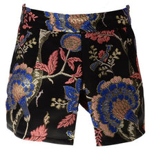 Load image into Gallery viewer, Black Embroidered Skort