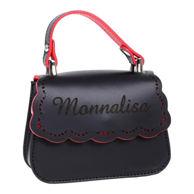 Monnalisa Girls Black Leather Bag