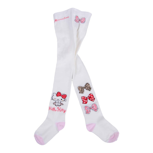 Monnalisa Sale White Hello Kitty Tights