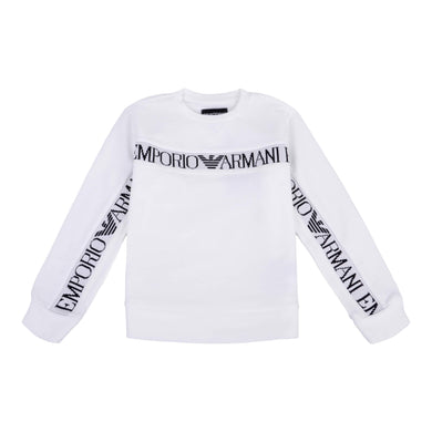 Emporio Armani Boys Sale White Tape Sweat Top