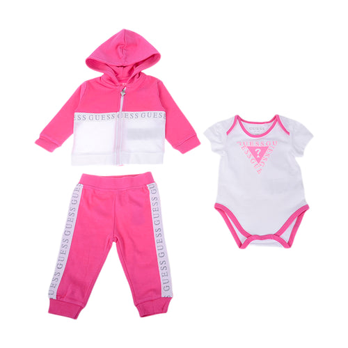 Pink 3 Piece Tracksuit