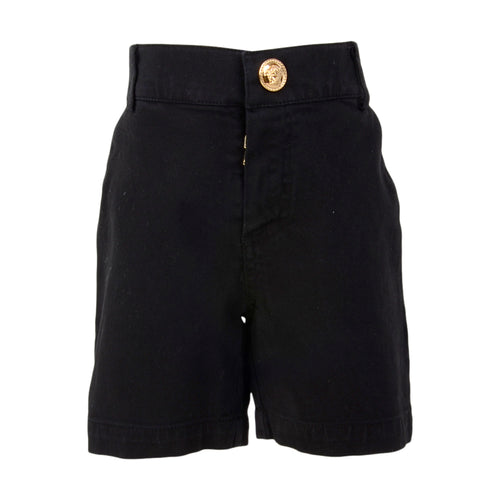 Black Greek Fret Shorts