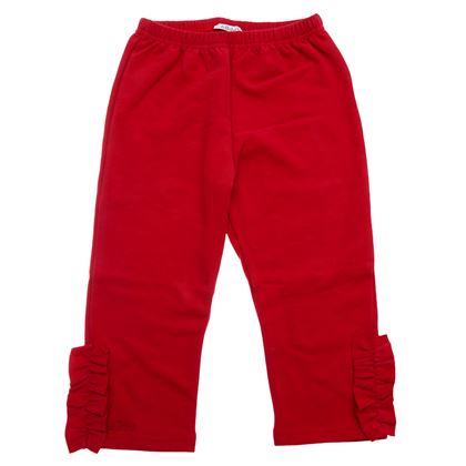 Le Bebe Sale Red Frill Leggings