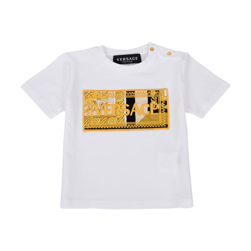 White & Gold Versace T-Shirt