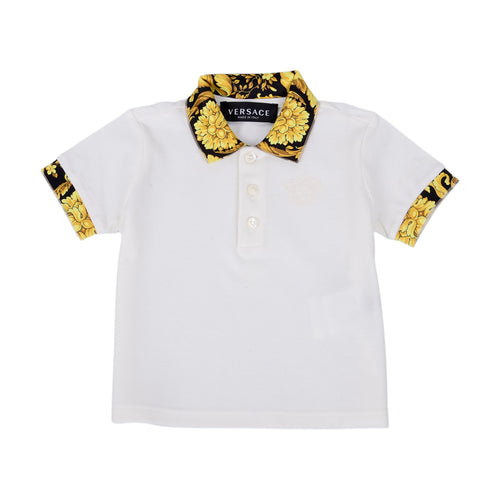 Ivory Baroque Polo Shirt