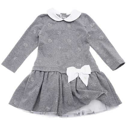 Le Bebe Sale Grey Polka Dot Dress