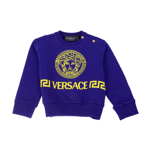 Royal Blue & Yellow Medusa Sweat Top
