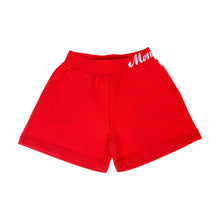 Load image into Gallery viewer, Girls Red Sweat Shorts
