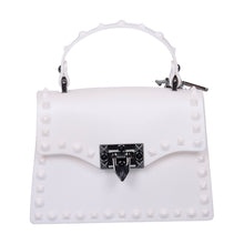 Load image into Gallery viewer, White Studded Bag