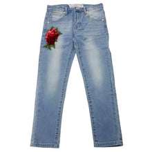 Load image into Gallery viewer, Denim Sequin Rose Jeans