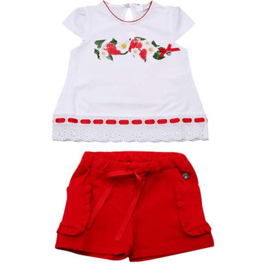 Byblos Baby Girls Sale White & Red Strawberry Set