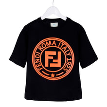 Load image into Gallery viewer, Black & Orange FF Roma T-Shirt