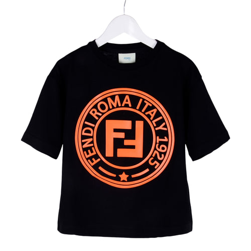 Black & Orange FF Roma T-Shirt
