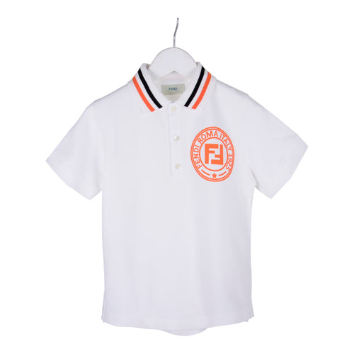 White & Orange FF Polo Shirt