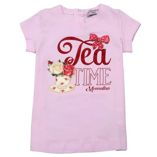 Monnalisa Sale Pink Tea Time T-Shirt