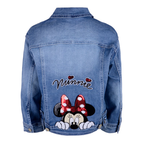 Denim Minnie Mouse Sequin Jacket