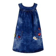 Load image into Gallery viewer, Appliqued Denim Dress