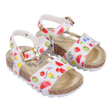Load image into Gallery viewer, White Fruit Sandals