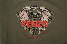Load image into Gallery viewer, Khaki Green Elephant Sweat Top