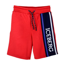 Load image into Gallery viewer, Red Iceberg Sweat Shorts