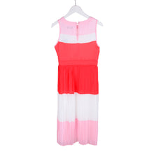 Load image into Gallery viewer, Red & Pink Chiffon Pleated Dress