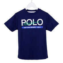 Load image into Gallery viewer, Navy 'Polo Est' T-Shirt